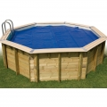 Bâche à bulles piscine bois