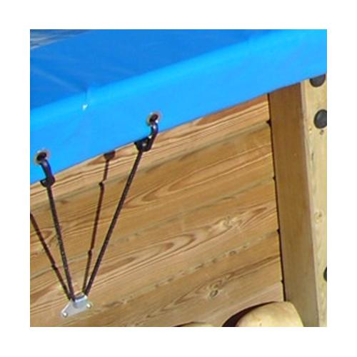 Bâche hiver pour piscine bois